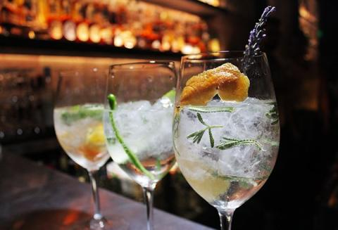 Array of modern Gin & Tonics drank around the world